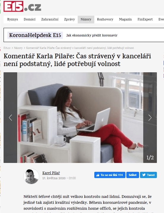 200517 E15.cz Komentář Karla Pilaře Svoboda v práci